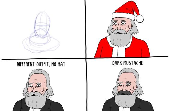 How to Draw Karl Marx in 4 Steps