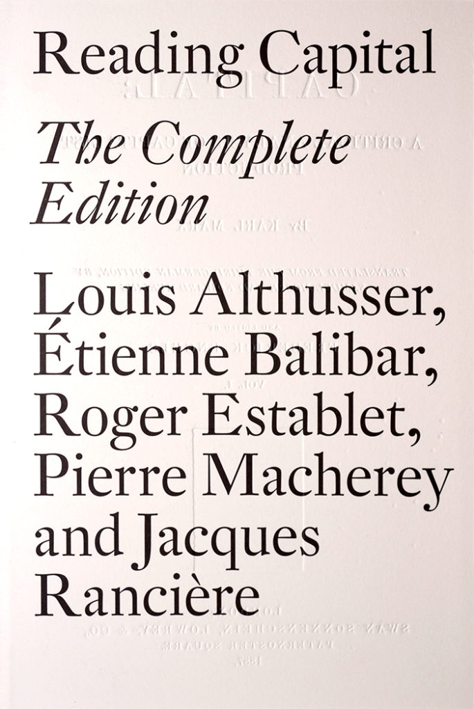 reading capital althusser